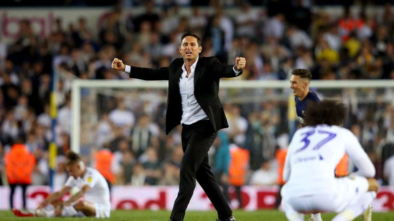 Frank Lampard celebrates after his side's stunning comeback