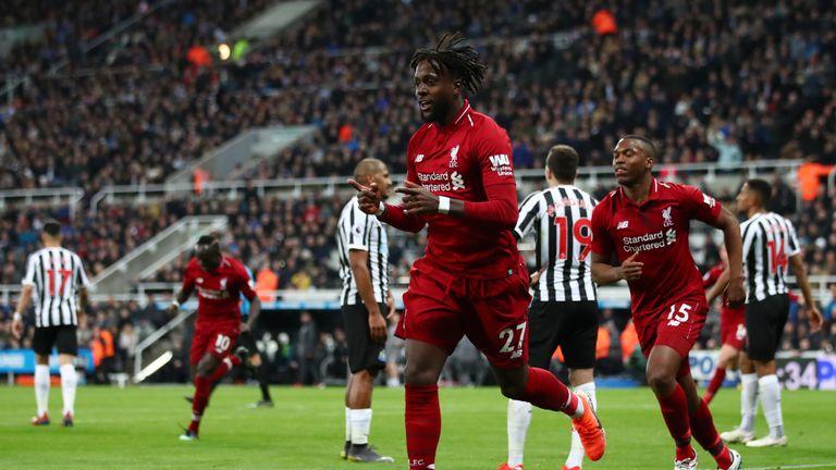 Divock Origi scored Liverpool's winner at Newcastle