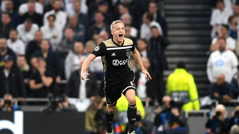 Both Barcelona and Real Madrid are reportedly fighting for Donny van de Beek's signature