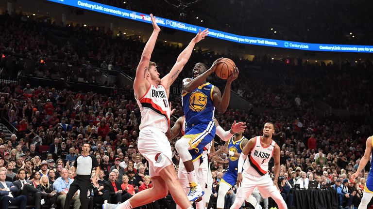 Damian Lillard playing with separated ribs for Portland Trail Blazers against Golden State Warriors in Western Conference Finals | NBA News |