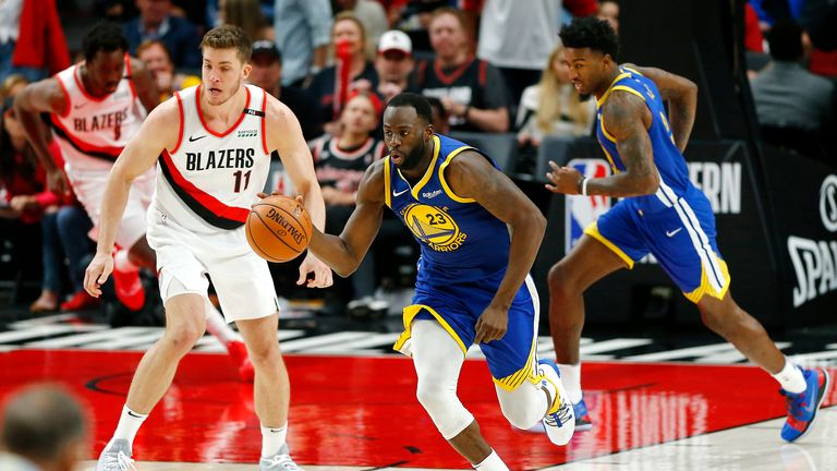 Draymond Green posts a triple-double to lead the Warriors to the game 3 victory over the Trail Blazers.