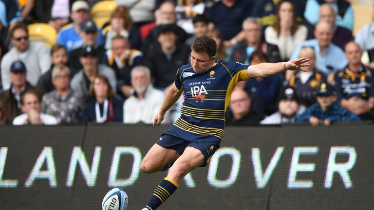 Duncan Weir kicked the match-winning penalty for Worcester against Saracens