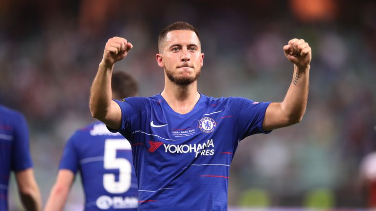 Eden Hazard scored twice for Chelsea