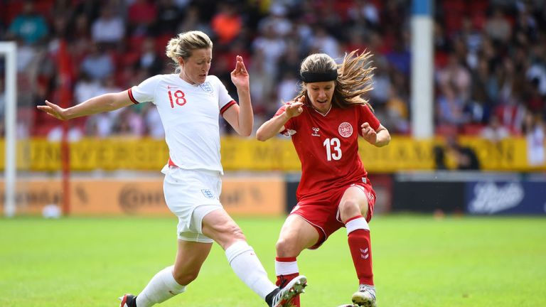 Ellen White started for England against Denmark