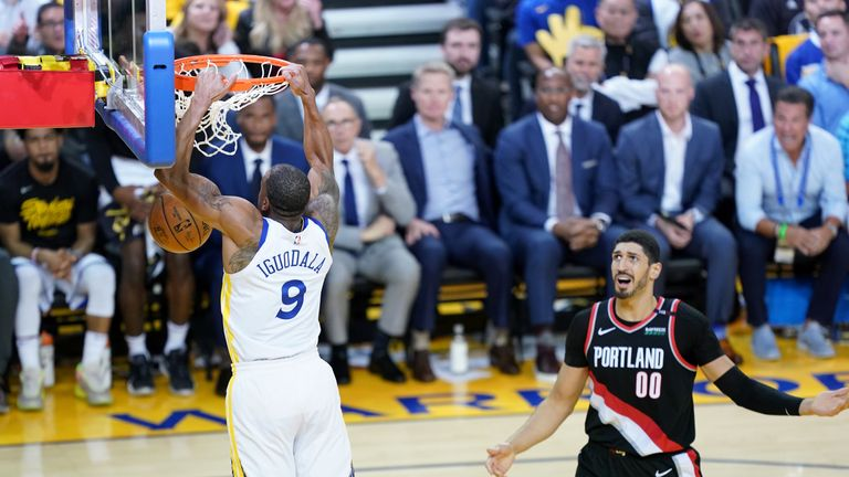 Enes Kanter is at the centre of the adjustment the Portland Trail Blazers must make on defense.