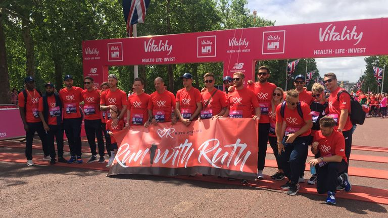 England's World  Cup squad took part in the Ruth Strauss Foundation Mile