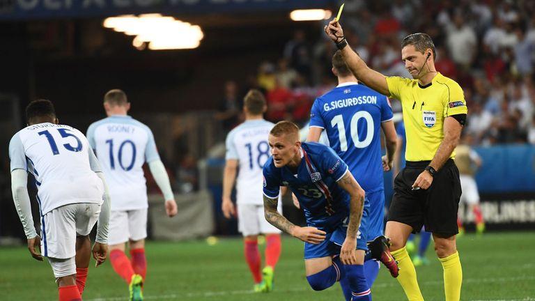 Skomina refereed England's Euro 2016 defeat to Iceland