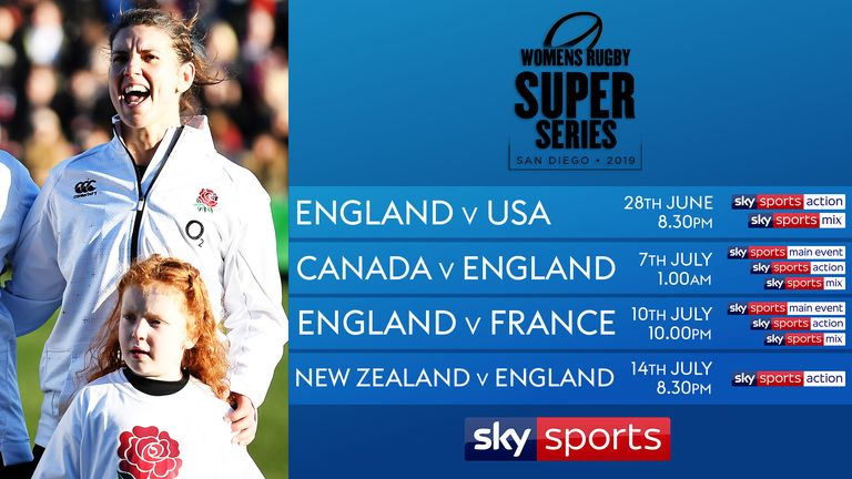 All four England games in the Super Series will be shown live on Sky Sports
