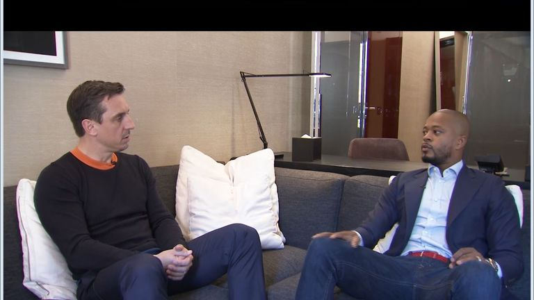 Patrice Evra gave a candid interview to Sky Sports' Gary Neville
