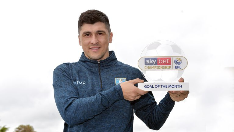 Fernando Forestieri has won the Sky Bet Championship Goal of the Month award for April