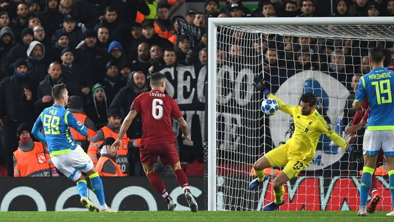 Alisson's save against Napoli secured Liverpool's place in the last 16