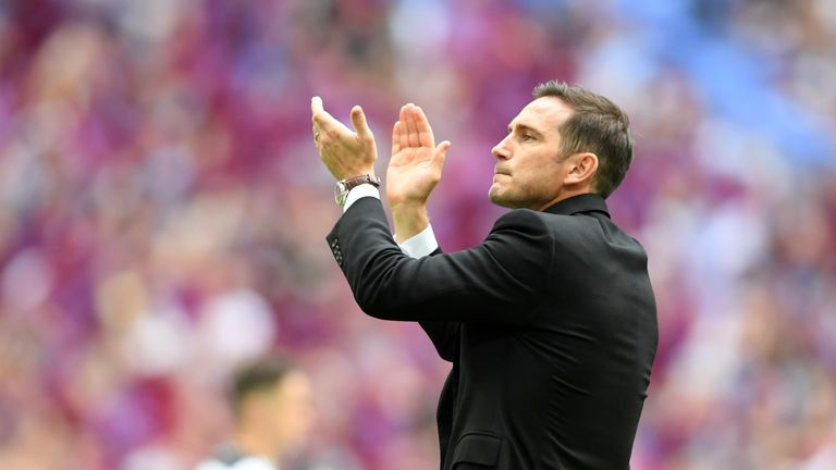 Frank Lampard says he will hold talks with Derby about his future