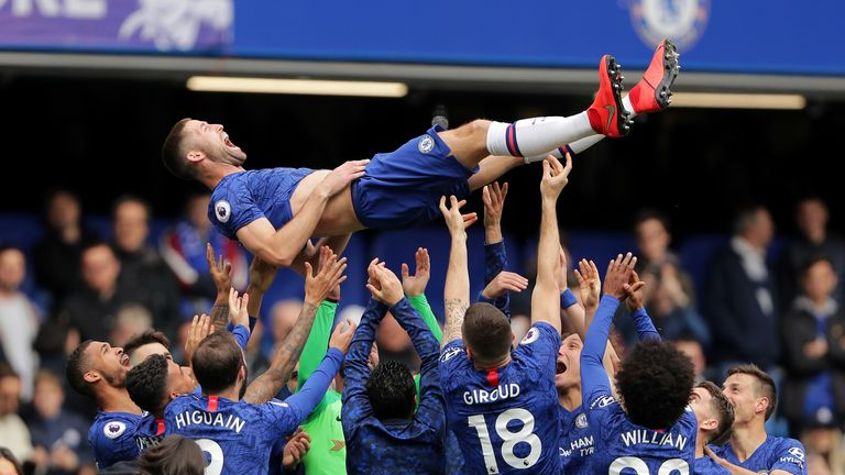 Gary Cahill was given 'the bumps' by his teammates