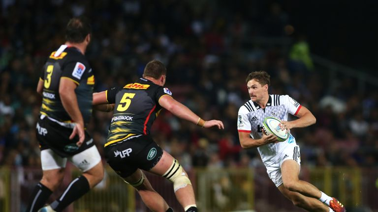 George Bridge in action for the Crusaders against the Stormers