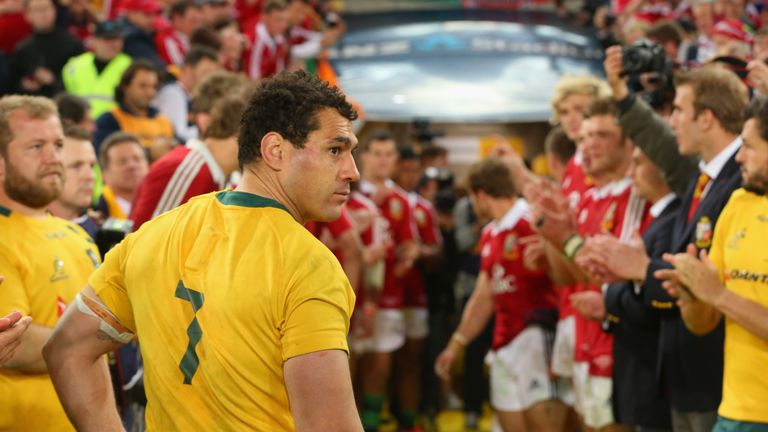George Smith's final appearance in a Wallabies jersey was in the deciding Test of the 2013 Lions series, which was won by the tourists