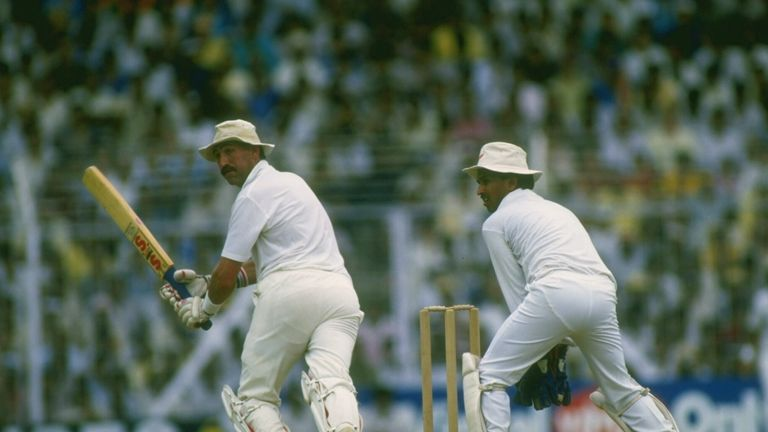 Graham Gooch swept England to a semi-final victory over India at the 1987 World Cup