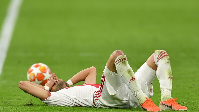Hakim Ziyech was left dejected after going so close to helping Ajax through