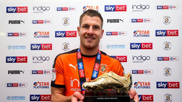 Collins' 25 goals fired Luton to the Sky Bet League One title