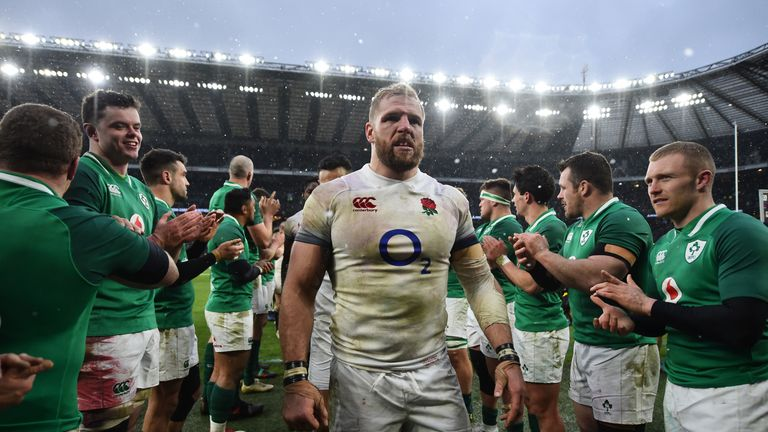 The last of Haskell's 77 Tests came against Ireland at Twickenham during last year's Six Nations