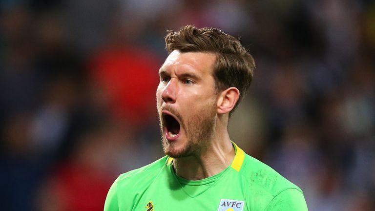 Aston Villa goalkeeper Jed Steer