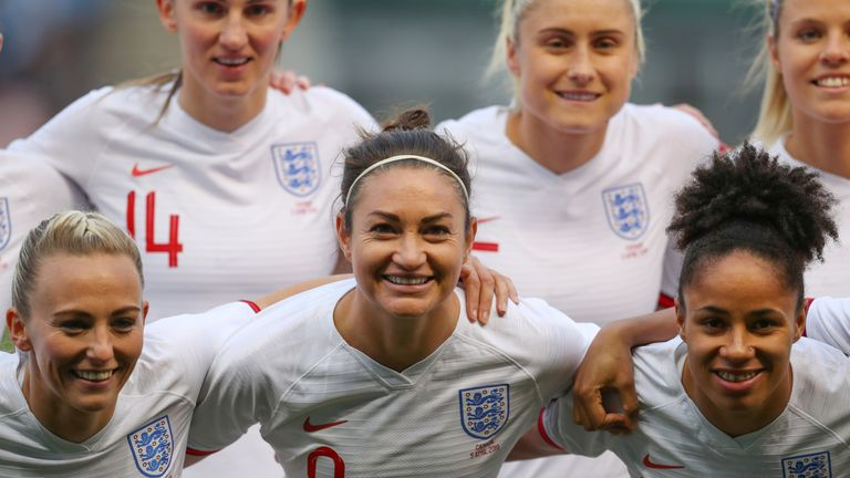 Jodie Taylor (centre) says the increase in media attention motivates the whole team