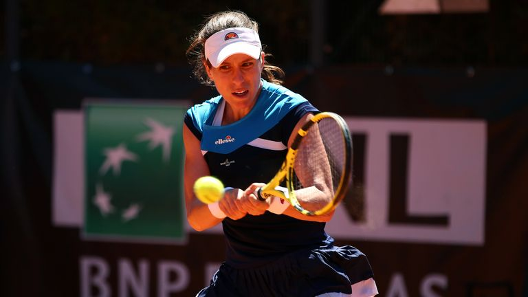 Johanna Konta is through to her first quarter-final in Rome