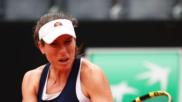 Johanna Konta fell at the final hurdle in Rome