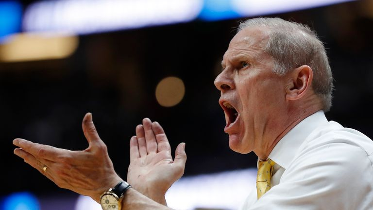John Beilein reacts during a Michigan Wolverines game at the NCAA tournament