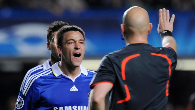 John Terry was left 'astonished' by the referee calls during the semi-final