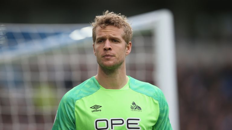 Jonas Lossl will join Everton on July 1 on a three-year deal