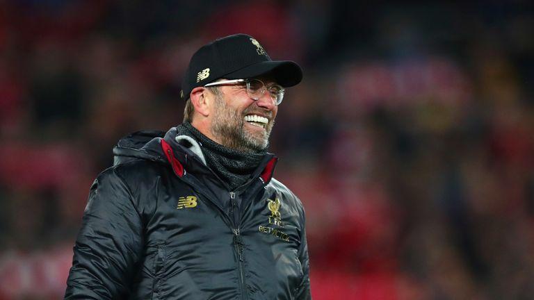 Jurgen Klopp celebrates Liverpool's dramatic 4-0 win over Barcelona