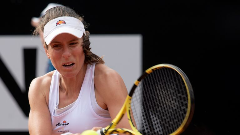 Johanna Konta loses to Karolina Pliskova in Italian Open final
