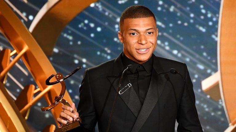 Kylian Mbappe won the Ligue 1 Player of the Year award