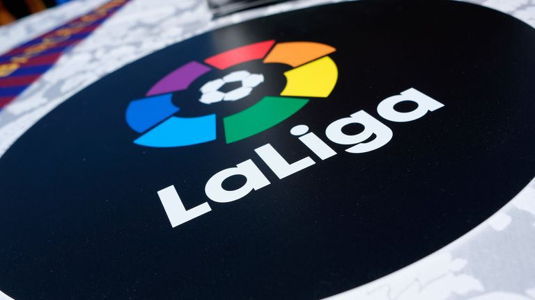A general view of the La Liga logo