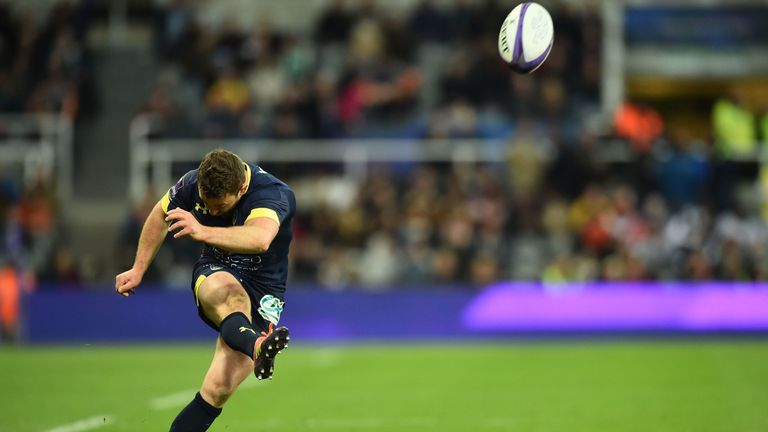 Greig Laidlaw kicked flawlessly after his injury-enforced introduction for Morgan Parra
