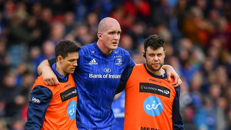 Second row Devin Toner suffered a serious-looking knee injury which will worry Ireland head coach Joe Schmidt