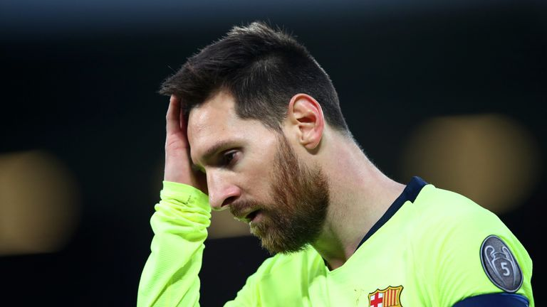 Lionel Messi was powerless to stop Barcelona's defeat