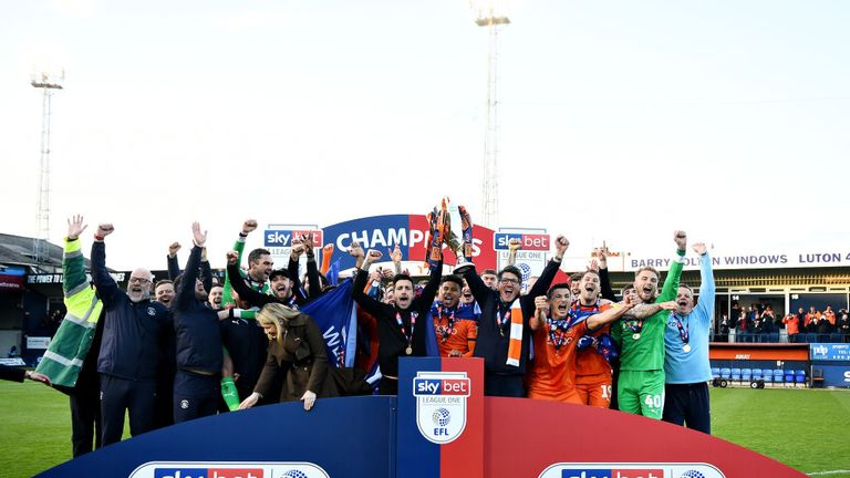 Luton Town are the Sky Bet League One champions