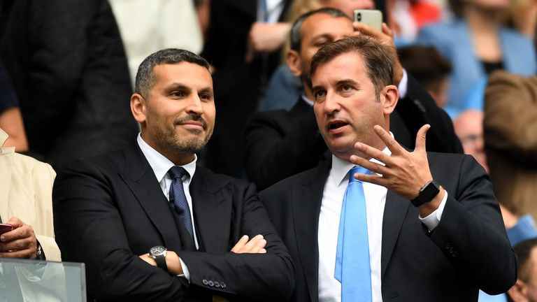 during the Premier League match between Manchester City and Fulham FC at Etihad Stadium on September 15, 2018 in Manchester, United Kingdom.