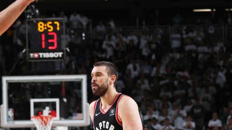 Marc Gasol has struggled to make an impact on the offensive end for the Toronto Raptors during the playoffs.
