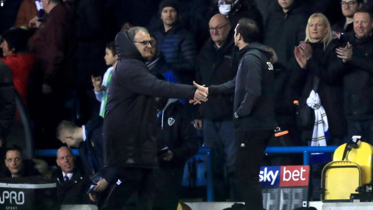 Derby manager Frank Lampard was angered by Bielsa sending a Leeds staff member to his squad's training session