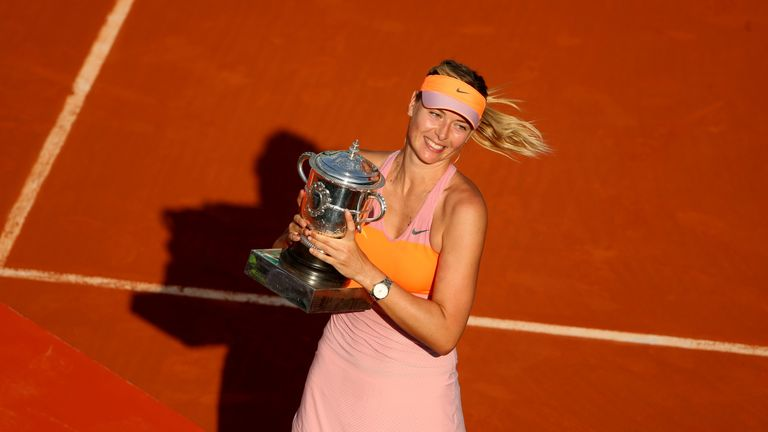 Maria Sharapova won the second of her French Open titles in 2014