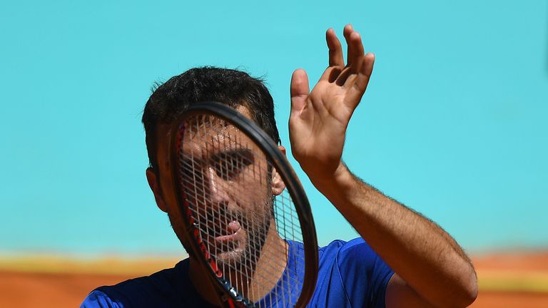 Marin Cilic was forced to miss his clash against Novak Djokovic due to food poisoning