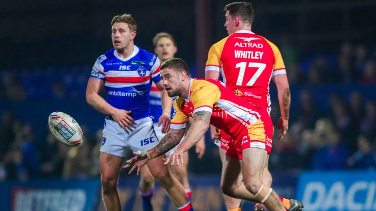 Catalans' Michael McIlorum was sin-binned in the first half and then sent off late on