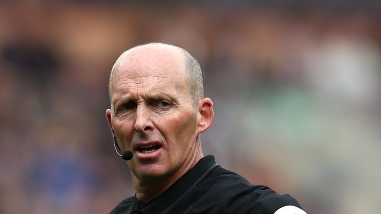 Mike Dean's decision during Burnley's 2-0 win over Cardiff was praised by Gallagher