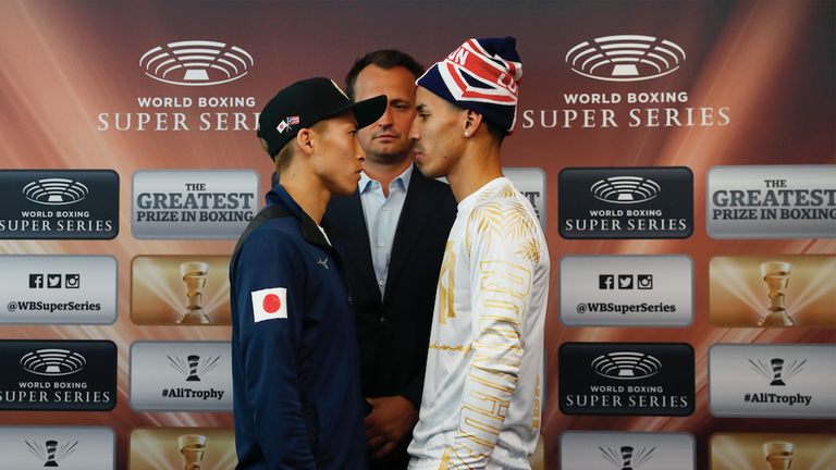 Naoya Inoue and Emmanuel Rodriguez ahead of their bantamweight clash