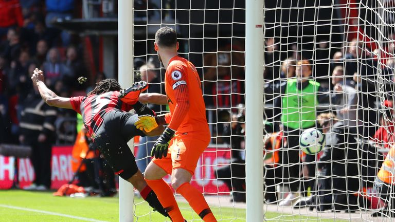 Nathan Ake scores goal, Bournemouth vs Tottenham, Premier League