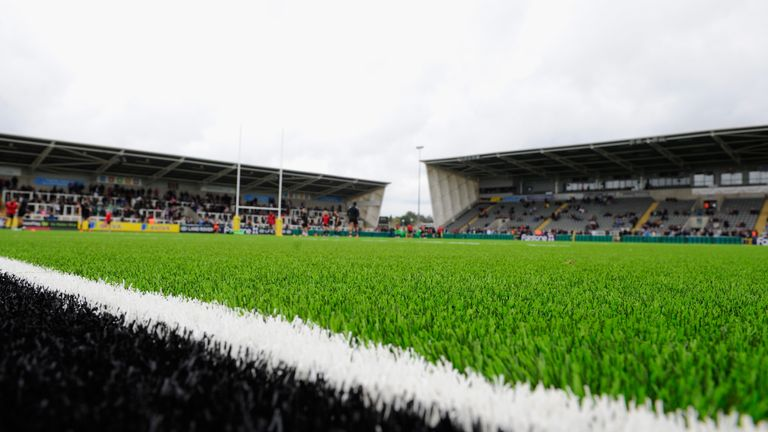 Newcastle Falcons introduced their artificial pitch at Kingston Park in 2014