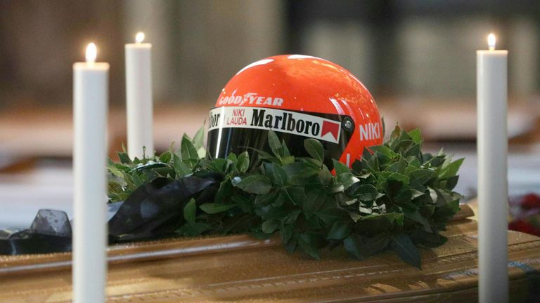 Lauda will be buried at a smaller ceremony later in the day