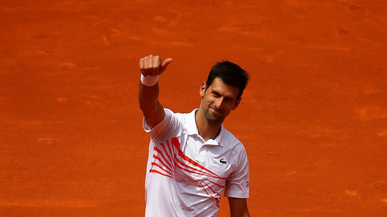 Novak Djokovic conceded only one break-point opportunity against Taylor Fritz